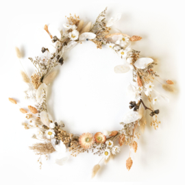 Dried Flower Wreath full deco orange