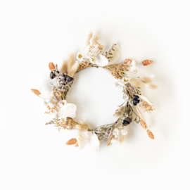 Dried Flower Wreath full deco orange XS
