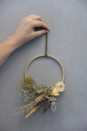 DIY Dried Flower Wreath green / 2 pieces