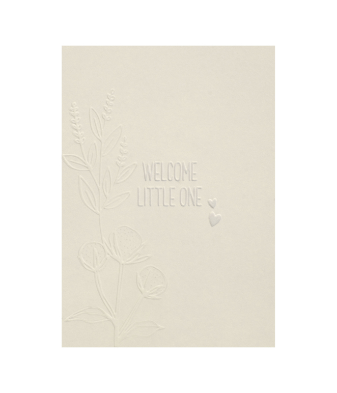 Postcard 'welcome little one' / 5 pieces