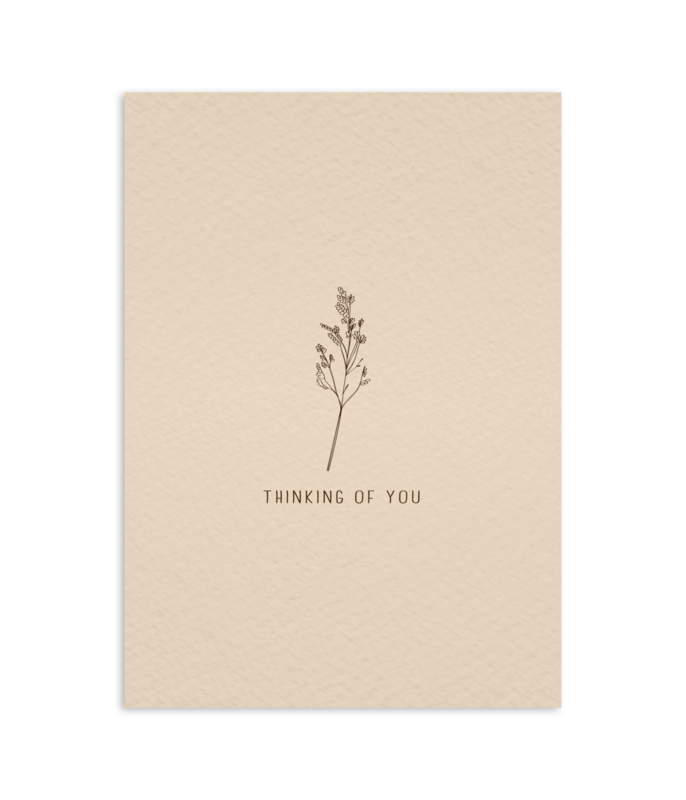 Postcard 'thinking of you'/ 5pieces