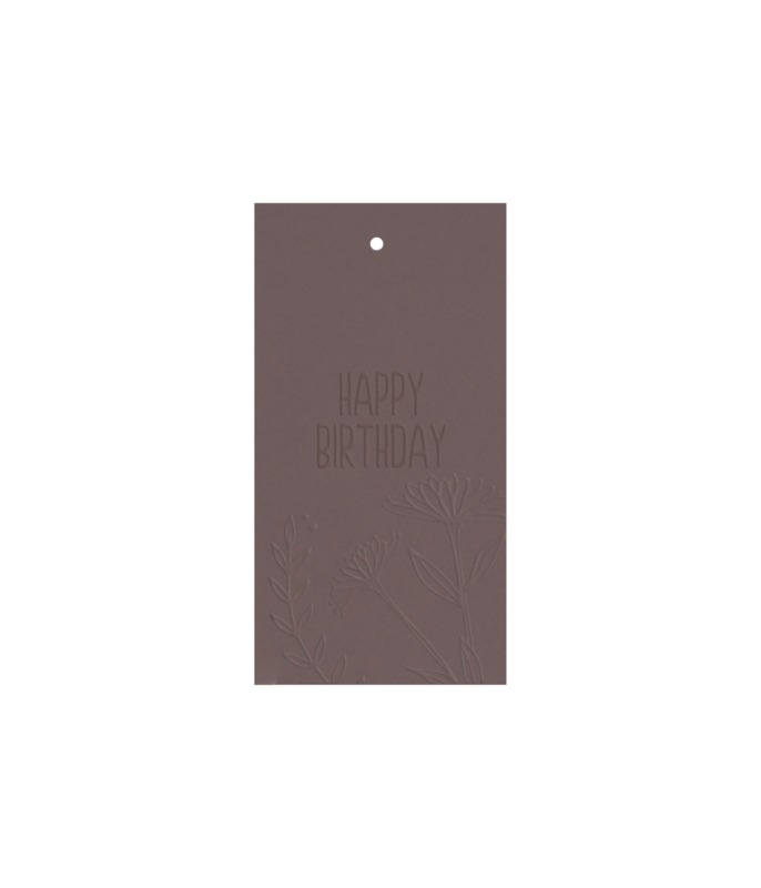 Label 'happy birthday' / 5 pieces