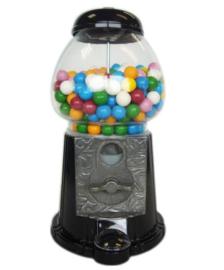 Kauwgombal automaat zwart 27 cm