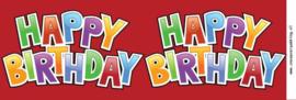 Blik met deksel 1 ltr Happy Birthday donkerrood