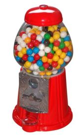 Kauwgombal automaat rood 27 cm