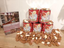Sinterklaas blik gevuld met strooigoed Model 2