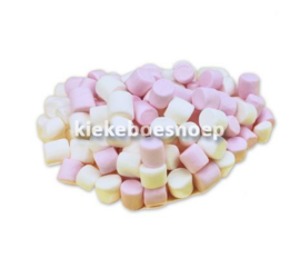 Mini marshmallows roze wit (250 gram)