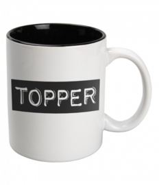 Black & White Mug Topper