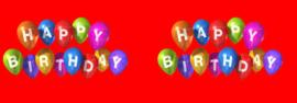 Blik met deksel 1 ltr Happy Birthday rood
