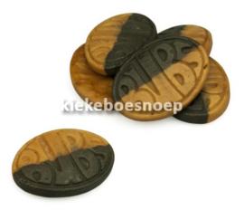 Bubs ovaal bruin/zwart (6 stuks) (TIJDELIJK NIET LEVERBAAR)