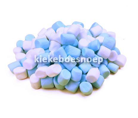 Mini marshmallows blauw wit (250 gram) NIET LEVERBAAR