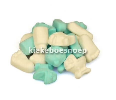 Geboorte schuim blauw wit (250 gram)