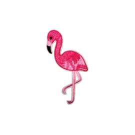 Strijkapplicatie flamingo felroze | 5 x 10 cm