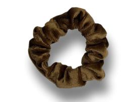 Scrunchie velvet donkerbeige mini
