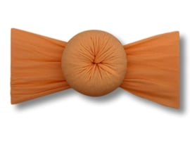 Baby haarband turban zalmroze