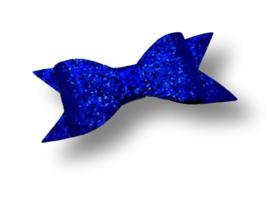 Glitter haarstrik felblauw XL | 10 cm