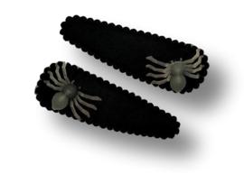Haarspeldjes zwart met spin glow in the dark