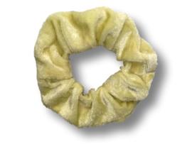 Scrunchie velvet ivoor