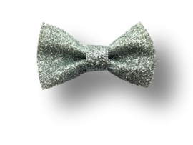 Glitter haarstrikje zilver
