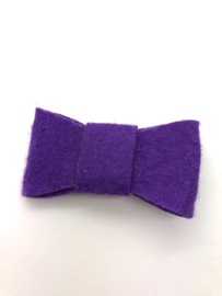 Haarstrik vilt paars (per stuk)