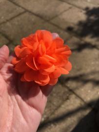 Bloem oranje broche | Koningsdag