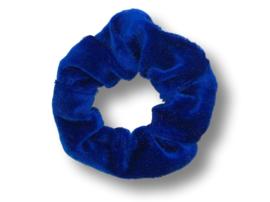 Scrunchie velvet felblauw
