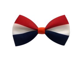 Luxe haarstrik rood wit blauw | XL