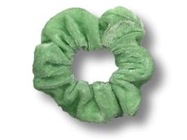Scrunchie velvet mintgroen