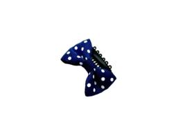 Baby haarspeldje donkerblauw witte stipjes
