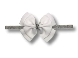 Baby haarbandje glitter wit