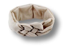 Haarband gevlochten off-white