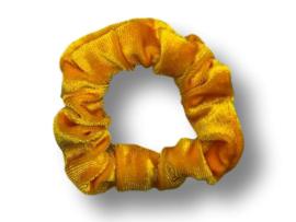 Scrunchie velvet okergeel mini