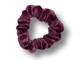 Scrunchie velvet bordeaux mini