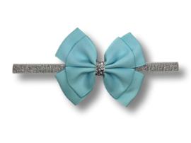 Baby haarbandje glitter lichtblauw