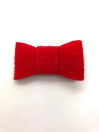 Haarstrik vilt rood (per stuk)