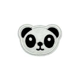 Strijkapplicatie panda | 8,5 x 5,5 cm