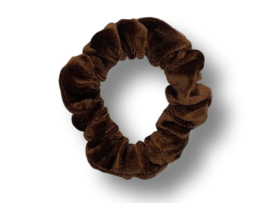 Scrunchie velvet bruin mini