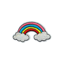 Strijkapplicatie regenboog | 4 x 7 cm