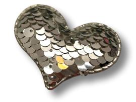 Haarlokspeldje verander hart zilver