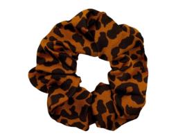 Scrunchie panter roestbruin