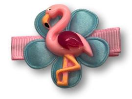 Haarlokspeldje lichtroze met flamingo