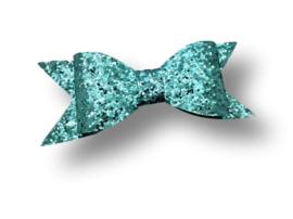 Glitter haarstrik lichtblauw XL | 10 cm