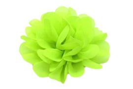 Haarbloem chiffon neon groen