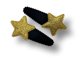 Haarspeldjes zwart met ster goud