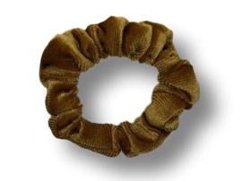 Scrunchie velvet caramel mini