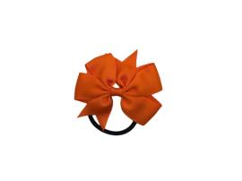 Haarelastiek met grote strik oranje
