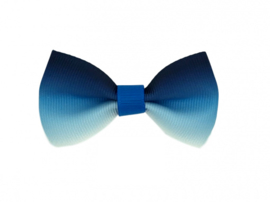Luxe haarstrik blauw