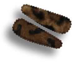 Haarspeldjes panter vacht bruin
