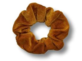 Scrunchie velvet okerbruin