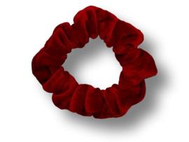 Scrunchie velvet rood mini